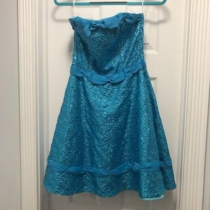 Strapless Betsy Johnson cocktail dress